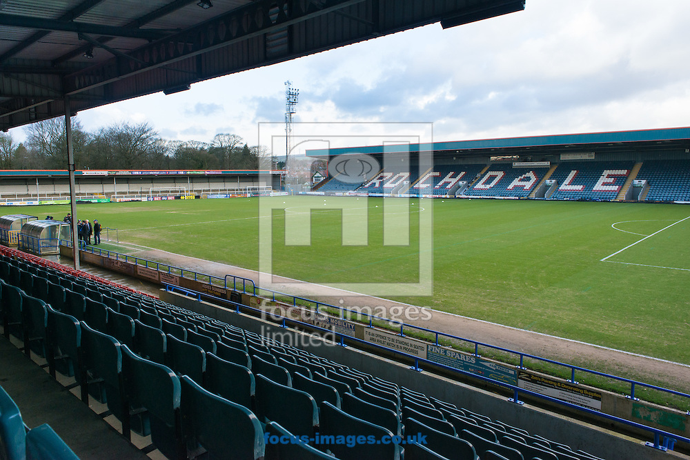 A general view of Spotland, Rochdale prior to the Sky Bet League One match between Rochdale and Burton Albion<br /> Picture by Matt Wilkinson/Focus Images Ltd 07814 960751<br /> 30/01/2016