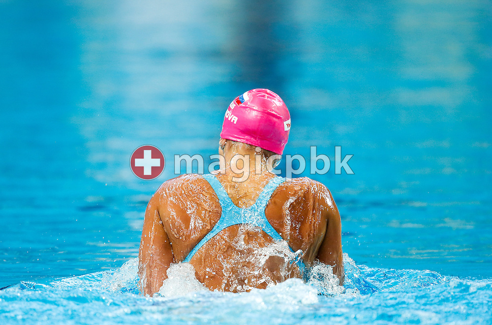 Yuliya (Iuliia) EFIMOVA (YEFIMOVA) of Russia competes in the women's 200m Breaststroke Heats during the 16th FINA World Swimming Championships held at the Kazan arena in Kazan, Russia, Thursday, Aug. 6, 2015. (Photo by Patrick B. Kraemer / MAGICPBK)