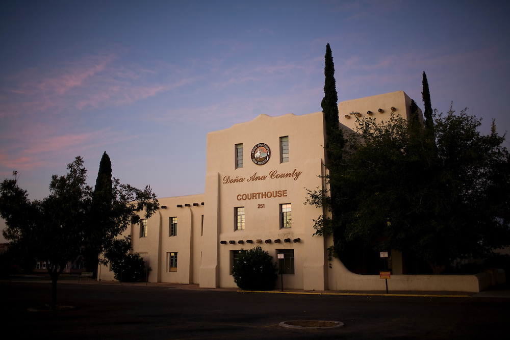 The Dona Ana County Cort House in Las Cruces, New Mexico
