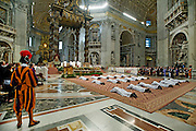 Vatican City apr 26th 2015, mass at St Peter's Basilica with the ordination rite. In the picture young priests lying on the floor during the ceremony  - © PIERPAOLO SCAVUZZO