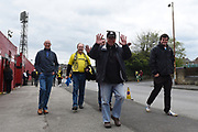 Burton Albion fans arrive for their last away day of the season at Oakwell during the EFL Sky Bet Championship match between Barnsley and Burton Albion at Oakwell, Barnsley, England on 29 April 2017. Photo by Richard Holmes.