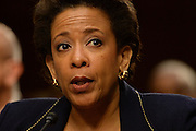 1/28/15 11:45:20 AM -- Washington, DC, U.S.A  -- Attorney General nominee Loretta Lynch, U.S. attorney for the Eastern District of New York, testifies at her confirmation hearing before the Senate Judiciary Committee.  Photo by H. Darr Beiser, USA TODAY Staff ORG XMIT:  HB 132475 AG NOMINATION LY 1/28/2015 [Via MerlinFTP Drop]