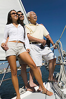 Couple and Father Sailing Together
