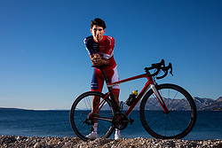 Aljaz Jarc during official photo session of Continental Team - Adria Mobil Cycling before new season 2020, on January 30, 2020 in Makarska, Croatia. Photo by Vid Ponikvar / Sportida
