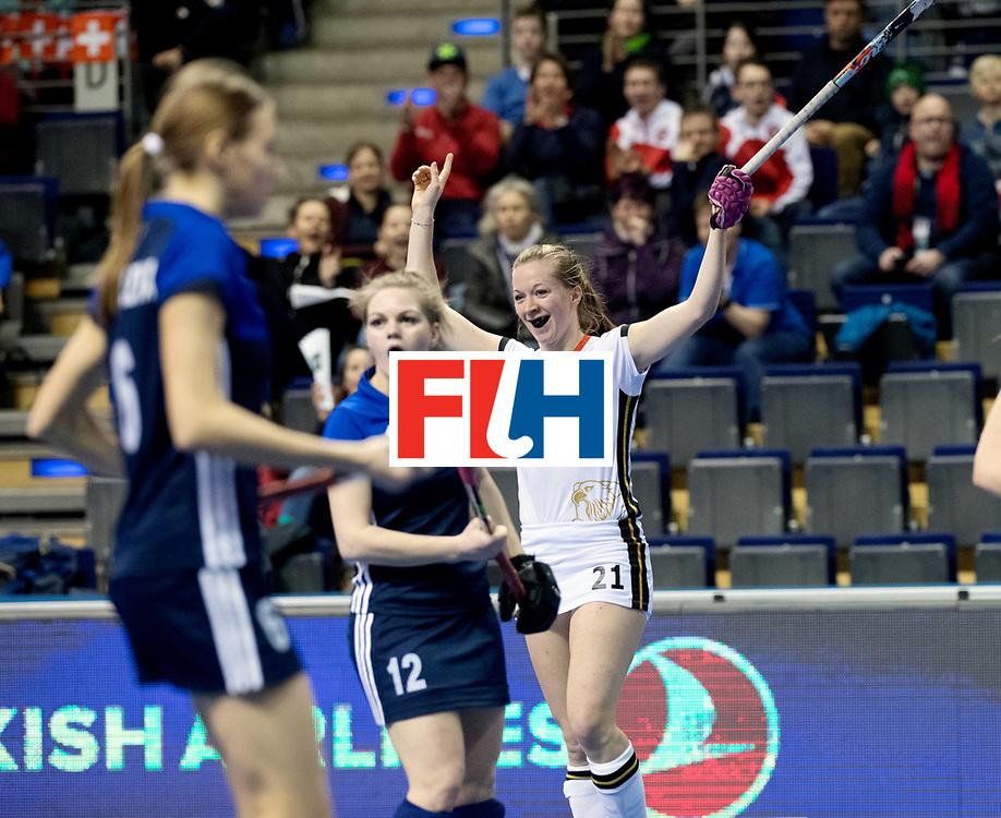 BERLIN - Indoor Hockey World Cup<br /> Women: Germany - Russia<br /> foto: Franzisca Hauke.<br /> WORLDSPORTPICS COPYRIGHT FRANK UIJLENBROEK