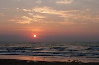 Sunrise over Gulf of Mexico at South Padre Island, Texas