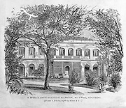 "From ""Souvenirs of Ceylon"" 1868 published by Ferguson. Merchants Sea Side mansion, Mutwal, Colombo."
