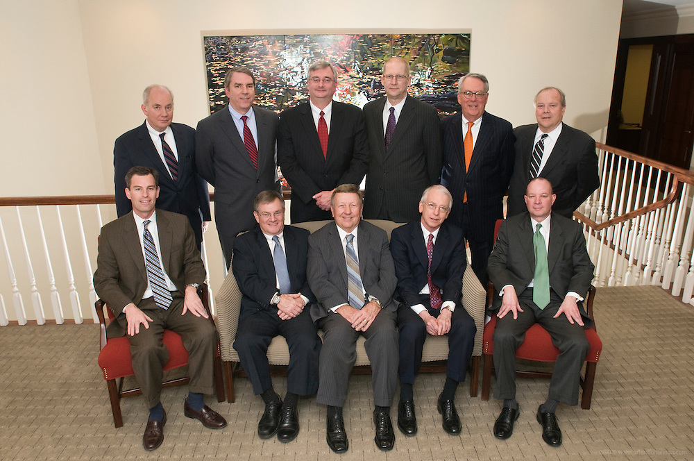 Members of Boehl Stopher & Graves photographed Tuesday, Feb. 1, 2011 for Kentucky's Best Lawyers at their offices at 400 West Market Street, AEGON Center, Suite 2300, Louisville, Ky. Included in the photo are, from left front: David T. Klapheke, Thomas Anderson, Philip J. Reverman, Peter J. Glauber and Raymond Smith. On the back row are, from left: Walter E. Harding, Robert E. Stopher, Robert M. Brooks, Richard L. Walter, Edward H. Stopher and Jefferson K. Streepey. Not pictured were: Richard Edwards, out-of-town; Wesley G. Gatlin, Jr., retired, and Larry L. Johnson, deceased. (Photo by Brian Bohannon)