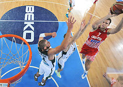 Bojan Bogdanovic #7 of Croatia during basketball match between National teams of Lithuania and Croatia in Semifinals at Day 17 of Eurobasket 2013 on September 20, 2013 in Arena Stozice, Ljubljana, Slovenia. (Photo by Vid Ponikvar / Sportida.com)