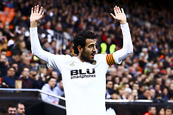 February 10, 2019 - Valencia, Spain - Dani Parejo of Valencia CF during  spanish La Liga match between Valencia CF v Real Sociedad at Mestalla Stadium on February 10, 2019. (Photo by Jose Miguel Fernandez/NurPhoto) (Credit Image: © Jose Miguel Fernandez/NurPhoto via ZUMA Press)