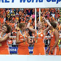 DEN HAAG - Rabobank Hockey World Cup<br /> 38 Final: Netherlands - Australia<br /> Netherlands world champion.<br /> Foto: <br /> COPYRIGHT FRANK UIJLENBROEK FFU PRESS AGENCY