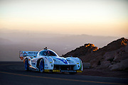 June 26-30 - Pikes Peak Colorado. Monster Tajima runs his car during practice for the 91st running of the Pikes Peak Hill Climb.