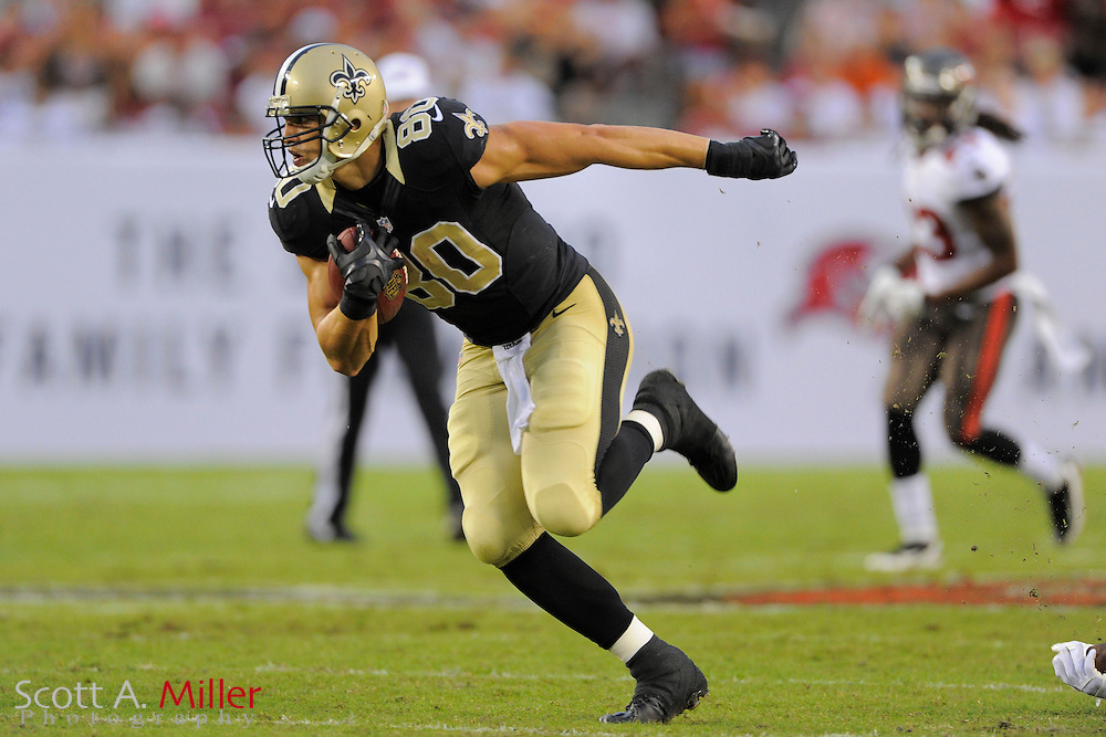 New Orleans Saints tight end Jimmy Graham (80) during the Saints 16-14 win over the Tampa Bay Buccaneers at Raymond James Stadium on Sept. 15, 2013 in Tampa, Florida. <br /> &copy;2013 Scott A. Miller