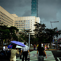 View of the 101 tower, once the tallest buildings in the world, in  Taipei, Taiwan, on Thursday  May, 21, 2009. Photographer: Bernardo De Niz