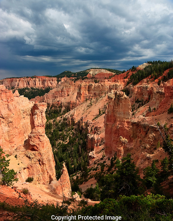 Thunderstorm clouds over Bryce Canyon National Park