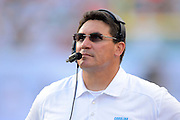 Carolina Panthers head coach Ron Rivera during the Panthers 20-16 win over the Miami Dolphins at Sun Life Stadium on Nov. 24, 2013 in  in Miami Gardens, Florida.                 ©2013 Scott A. Miller