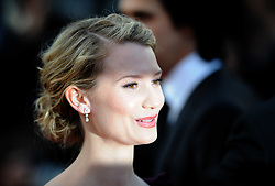 Actress Mia Wasikowska arrives for the screening of 'Lawless' presented in competition at the 65th Cannes film festival on May 19, 2012 in Cannes. Photo Ki Price/i-Images