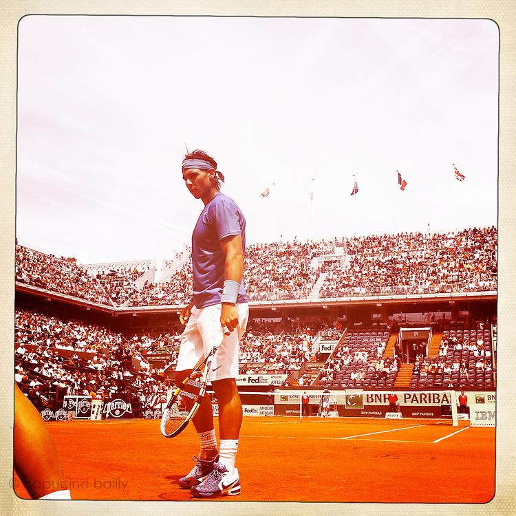 Roland Garros 2011. Paris, France. May 28th 2011..Spanish player Rafael NADAL against Antonio VEIC (Court Philippe Chatrier)