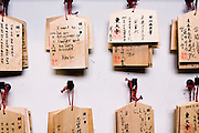 Wishes hung at Todaji Temple.