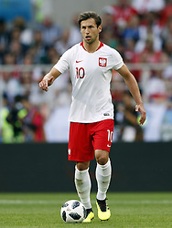 Grzegorz Krychowiak of Poland during the 2018 FIFA World Cup Russia group H match between Poland and Senegal at the Otkrytiye Arena on June 19, 2018 in Moscow, Russia