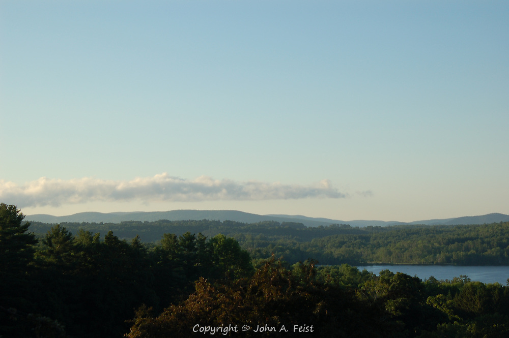 An early morning view into the Berkshire countryside from Kripalu in Stockbridge, MA