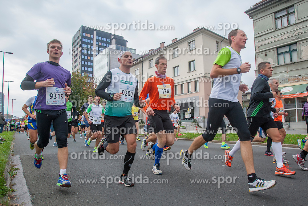 Athletes compete during 19th Ljubljana Marathon 2014 on October 26, 2014 in Ljubljana, Slovenia. Photo by Urban Urbanc / Sportida.com