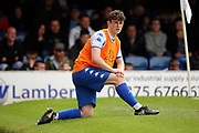 Bury player Will Ferry (45) warming up during the EFL Sky Bet League 1 match between Southend United and Bury at Roots Hall, Southend, England on 30 April 2017. Photo by Matthew Redman.