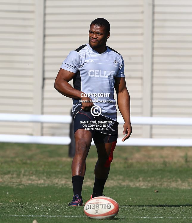DURBAN, SOUTH AFRICA Thursday 2nd July 2015 - Sibusiso Sithole during the Cell C Sharks training session at Growthpoint Kings Park in Durban, South Africa. (Photo by Steve Haag)