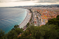View of Cote d'Azur from Colline du Chateau.