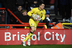 Academy goalkeeper Max O'leary makes his full senior team debut as he starts against West Bromwich Albion in FA Cup third round replay at Ashton Gate  - Mandatory by-line: Paul Knight/JMP - Mobile: 07966 386802 - 19/01/2016 -  FOOTBALL - Ashton Gate Stadium - Bristol, England -  Bristol City v West Bromwich Albion - FA Cup third round