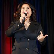NLD/Amsterdam/20150324 -  boekpresentatie Het Grote Songfestival boek, Linda Wagemaker