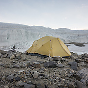 Home sweet home for three nights at Lake Hoare, Canada Glacier in background