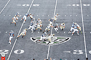 YPSILANTI, MI - SEPTEMBER 26: General view of the field with gray turf as the Eastern Michigan Eagles play against the Army Black Knights at Rynearson Stadium on September 26, 2015 in Ypsilanti, Michigan. Army defeated Eastern Michigan 58-36. (Photo by Joe Robbins)