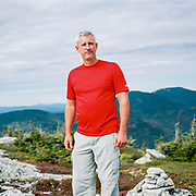 Scott on the summit of Sunday River Whitecap Mountain in Maine