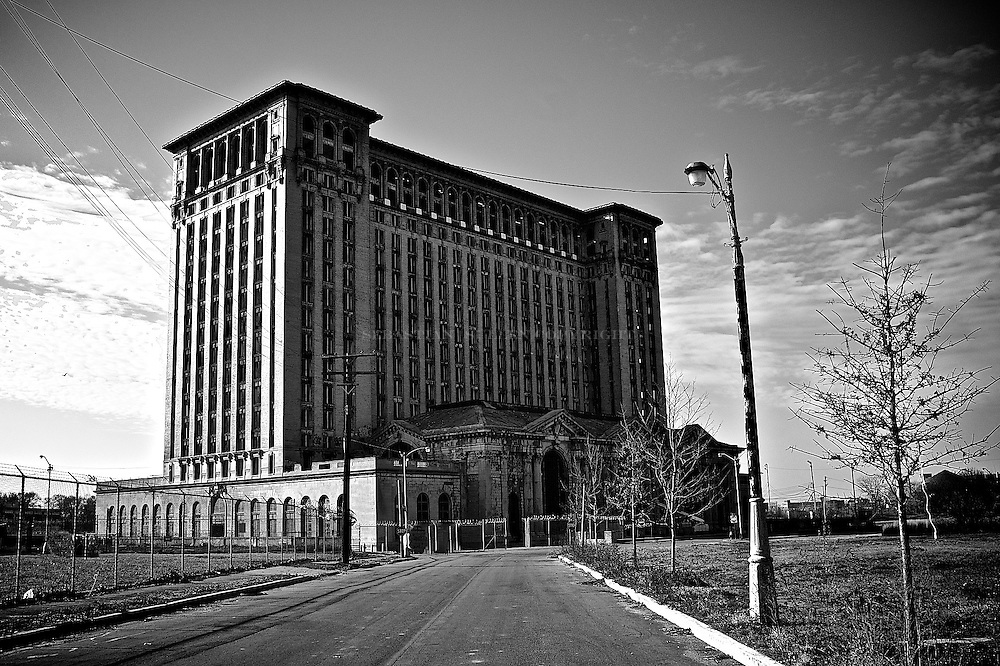The notorious and historical Detroit train station  still standing strong after decades of dismay. But it serves as the resilience of Detroit. Corktown series