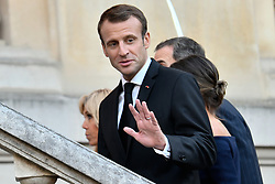 October 5, 2018 - Paris, Ile-de-France (region, France - Brigitte and Emmanuel Macron Visit the Miro exhibition at the Grand Palais, accompanied by Felipe VI and Laetizia, King and Reindeer of Spain, on October 05, 2018. (Credit Image: © Julien Mattia/Le Pictorium Agency via ZUMA Press)
