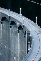 Diablo Dam, second of the three dams on the Upper Skagit River Gorge which provides power for the city of Seattle Washington