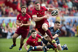 September 30, 2017 - Limerick, Ireland - Robin Copeland of Munster runs with the ball during the Guinness PRO14 Conference A Round 5 match between Munster Rugby and Cardiff Blues at Thomond Park in Limerick, Ireland on September 30, 2017  (Credit Image: © Andrew Surma/NurPhoto via ZUMA Press)
