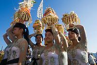 The Melasti Ceremony on Purnami Beach