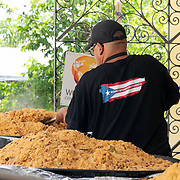 JULY 20, 2018---HATO REY, PUERTO RICO----<br /> Chefs for Puerto Rico preparing food to be delivered during the day as part of the World Central Kitchen initiative in Puerto Rico which came to prominence following the aftermath of the devastation left by Hurricane Maria in Puerto Rico. <br /> (Photo by Angel Valentin/Freelance)