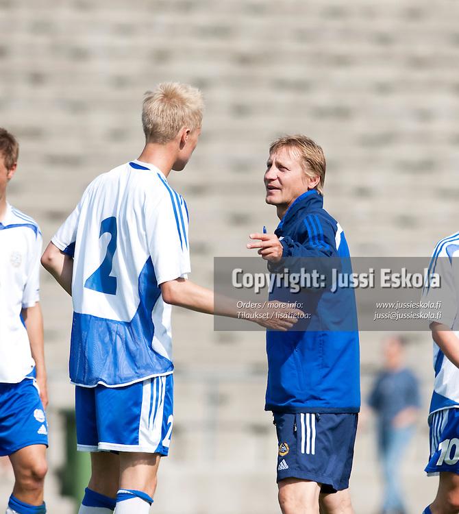 Kimmo Lipponen. Suomi - Viro. Alle 18-vuotiaiden maaottelu (U18). Helsinki 15.7.2009. Photo: Jussi Eskola