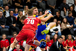 28.10.2018, Raiffeisen Sportpark, Graz, AUT, EHF, Euro Cup, Österreich vs Schweden, im Bild Linus Persson (SWE)// during the EHF Euro Cup Match between Austria and Sweden at the Raiffeisen Sportpark, Graz, Austria on 2018/10/28. EXPA Pictures © 2018, PhotoCredit: EXPA/ Sebastian Pucher