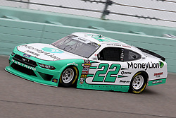 November 16, 2018 - Homestead, FL, U.S. - HOMESTEAD, FL - NOVEMBER 16: Austin Cindric, driver of the #22 Money Lion Ford , during practice for the NASCAR Xfinity Series playoff race, the Ford EcoBoost 300 on November 16, 2018, at Homestead-Miami Speedway in Homestead, FL. (Photo by Malcolm Hope/Icon Sportswire) (Credit Image: © Malcolm Hope/Icon SMI via ZUMA Press)