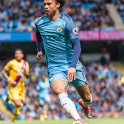 Manchester City midfielder Leroy Sane (19) in the English Premier League match between Manchester City and Crystal Palace<br /> (c) John Baguley | SportPix.org.uk