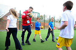 Ryan Kent and Bristol City Community trust at Knowle Park primary school  - Mandatory by-line: Dougie Allward/JMP - 20/03/2018 - MULTI SPORT - Knowle Park Primary School - Bristol, England - Knowle Park