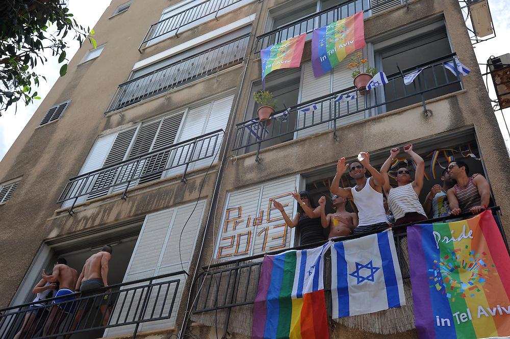 Members of the Israeli and international gay community participate the annual gay pride parade in Tel Aviv, June 07, 2013. Photo by Gili Yaari