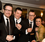 Alexi Kaye Campbell; Ben Ringham; Max Ringham; Lindsey Marshall, The Laurence Olivier Awards, The Grosvenor House Hotel. Park Lane. London. 8 March 2009 *** Local Caption *** -DO NOT ARCHIVE -Copyright Photograph by Dafydd Jones. 248 Clapham Rd. London SW9 0PZ. Tel 0207 820 0771. www.dafjones.com<br /> Alexi Kaye Campbell; Ben Ringham; Max Ringham; Lindsey Marshall, The Laurence Olivier Awards, The Grosvenor House Hotel. Park Lane. London. 8 March 2009