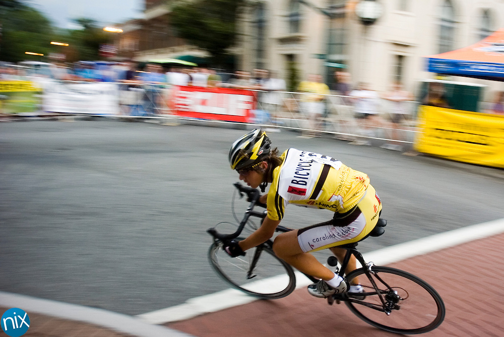 Michael Niehouse races in the Cabarrus Creamery Criterium in downtown Concord Wednesday night. The race was part of the 2009 Giordana Crossroads Classic.