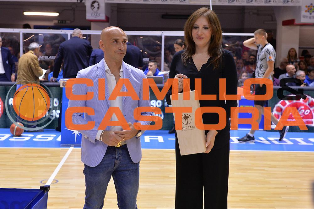 Giovanni Parisi, Assunta DeCillis<br /> Enel Brindisi - EA7 Emporio Armani Milano<br /> BASKET Serie A 2016-2017<br /> Brindisi 15/04/2017<br /> FOTO CIAMILLO / M.Longo
