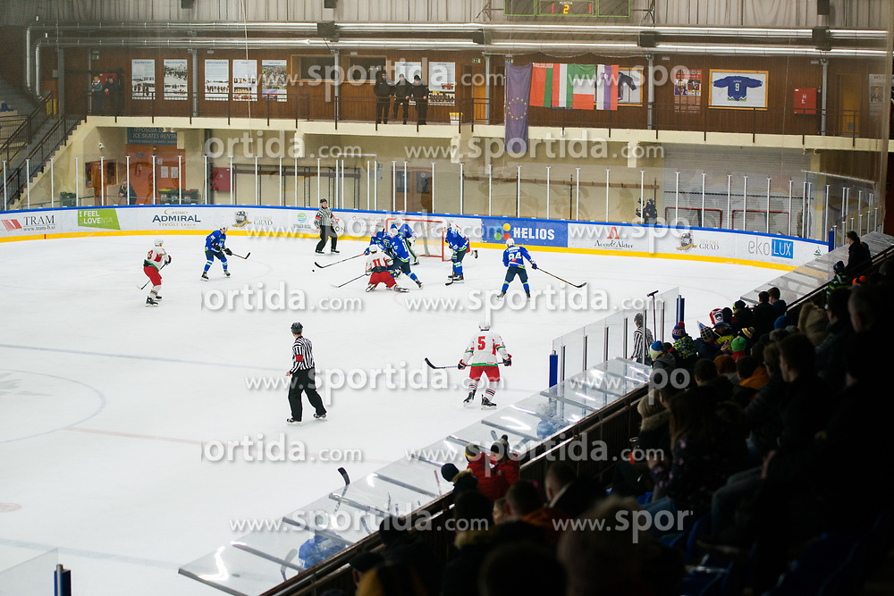 Slovenian national hockey team  during Ice Hockey match between National teams of Slovenia and Belarus at International tournament Euro ice hockey Challenge 2019, on February 9, 2019 in Ice Arena Bled, Slovenia. Photo by Peter Podobnik / Sportida